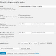 Screenshot-2018-6-5 Étape 3 Newsletter de Web Mairie ‹ Web Mairie — WordPress